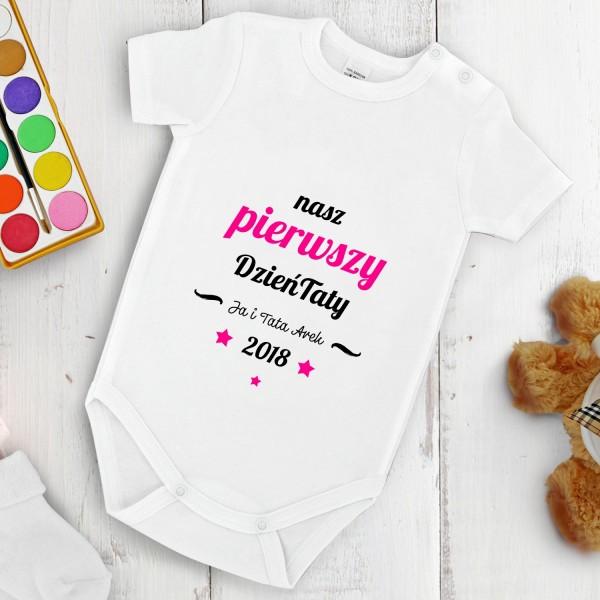 Body niemowlęce z własnym nadrukiem na prezent na Dzień Ojca