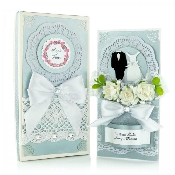 Ręcznie robione kartki z życzeniami na ślub