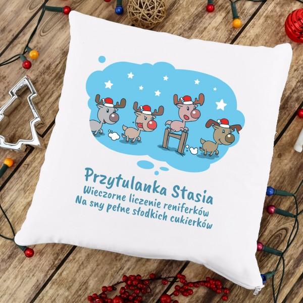 poduszka świąteczna z imieniem prezent dla dziecka na mikołajki